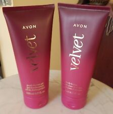 AVON Velvet Bath Set: Pearl Shower Gel & Lotion - *FREE SHIPPING* Factory Sealed