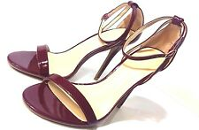 Women's Adele Single Sole Ankle Strap High Heels Burgundy / Wine US Size 9 M NEW