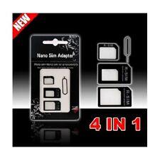 ADAPTATEUR 4 EN 1 NANO MICRO SIM IPHONE 3/4/4S/5/5S/5C CARD ADAPTER RSIM IN HTC