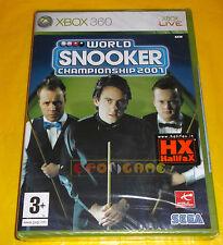 WORLD SNOOKER CHAMPIONSHIP 2007 XBOX 360 Vers Inglese 1ª Ed ○○ NUOVO SIGILLATO