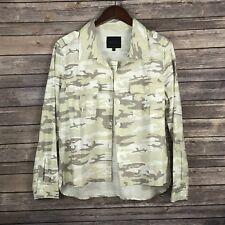 Sanctuary Womens Jacket Blazer Shacket Pockets Light Neutral Camouflage Medium