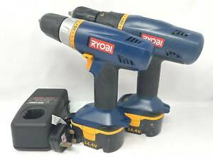 Ryobi CHI-1442P One+ 14.4V Cordless Hammer Impact Drill + CHD-1441 Driver Combo