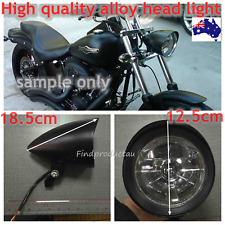 Black billet aluminum bullet head light Harley Sportster XL DYNA Chopper Bobber