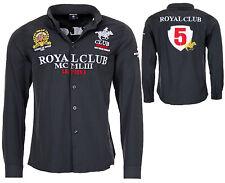 Geographical Norway Hombres Manga Larga Camiseta Real Club Camisa Casual