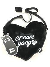 Mini Cream Cream Gang Faux Fur Heart Bag Handbag - Black - RRP £80 - New