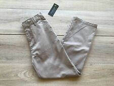"""2 U.S. Polo Assn. Boys' School Uniform Pants Size 4 22""""X17"""" Khaki Adj. Waistband"""