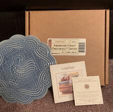 Longaberger Pottery American Craft Originals Trivet Cornflower 30553 In Box
