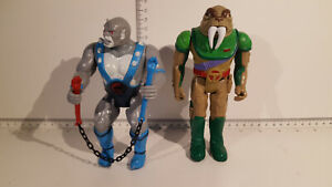 (Lot 705b) LJN Toys - Thundercats Figures -  Panthro with nunchucks & Tuska