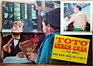 R@RIT@'LOCANDINA FILM 46 X 67-ANNI 40-TOTO' CERCA CASA-RIF.N.18