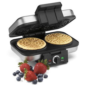 Cuisinart Pizzelle Press Brushed Stainless Steel Nonstick Plates BPA Free NEW