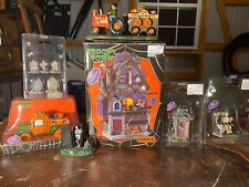 lemax spooky town halloween Lot Of 7 Pieces