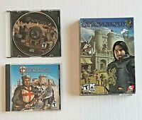 Stronghold - Stronghold 2 - Stronghold Crusader (PC CD-ROM video games)