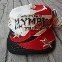 Vintage 90s United States Olympic Team Snapback Hat by Starter Shark Tooth USA