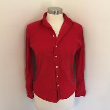 American Apparel XS Shirt Red Corduroy Long Sleeve Button UP