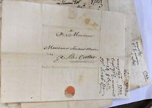 Correspondance manuscrite: à Monsieur Sauveur Marin, à La Ciotat. 1731-1792