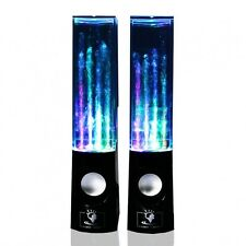Dancing Water Speakers USB  LED Lights Laptop PC MP3 Phone Audio Sound - BLACK