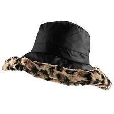 22623120 Morehats Plush Bucket Hat Faux Fur Warm Leopard Outdoor Ski Winter Hat  Women Men