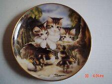 Franklin Mint Collectors Plate FINE FEATHERED FRIENDS Cat Kitten Ducklings