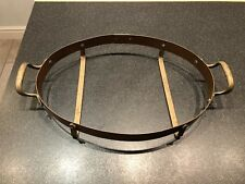 Copper Pan Holder Trivet Carrier Handles Oval