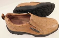 Pre-Owned Roper Performance Mens 6 Womens 7.5 Slip-On Ostrich Print Casual Shoes
