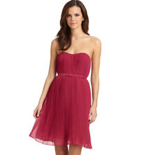 French Connection Berry Shelbys Pleat Skirt Flare Strapless Party Dress 16 44