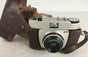 Vintage Adox Polo German 35mm Film Viewfinder Camera w/ Prontor 125 Lens & Case