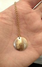 MARLYN SCHIFF NECKLACE Gold & Diamond Designer QVC Round Womens Very Nice