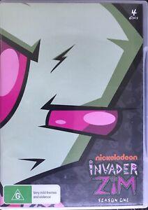 Invader Zim Season One 1 DVD 4 Discs Region 0 Used