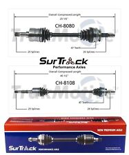 Chrysler Plymouth Grand Voyager Caravan FWD 2 Front CV Axle Shafts SurTrack Set