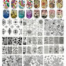 60Patterns  Nail Stamping Plates Stainless Steel Nail Art Stamp Template