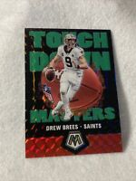 Drew Brees 2020 Panini Mosaic Touchdown Masters Green Prizm SP Refractor #TM1