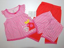 Carter's ~ estados unidos ~ 74-80 ~ pijama pijama ~ ~ 3 pzas. ~ mariquitas ~ ropa de noche chicas ~ ~ nuevo