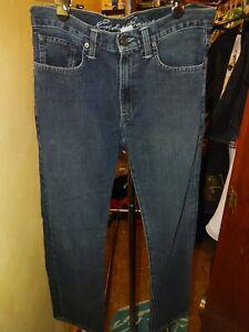 Eddie Bauer Men's Jeans Sz W 30 X 30 L Slim Fit Dark Wash Straight Leg