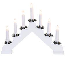 Arc à lumière à bougies éclairage pour fenêtres chandelier Suédois blanc 7 70370
