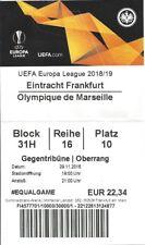 Ticket billet karte stub Eintracht Frankfurt OM Marseille Olympique C3 18 rare