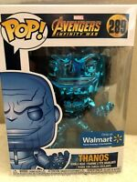 Funko Pop! Marvel Avengers Infinity War THANOS BLUE Chrome Walmart Exclusive NEW
