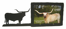 "Longhorn Steer Long Horn Picture Frame 4""x6"" H"