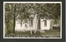 Lampson Wisconsin WI 40s RPPC Piney Point Gull BC Cabin