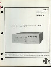 Original Factory Nikko TRM-210 Stereo Pre Amplifier Amp Service Manual