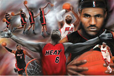 Lebron James Poster Miami Heat Greatest Basketball Player! NEW! ESPN! NBA 24x36!