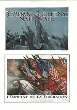 1919 French Republic Freedom Us Flag 2 Mini Poster Ww1 Liberty Loans War Bonds