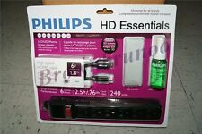 Philips TV Kit HDMI Cable Mircofiber Cloth LCD DEL Screen Clean Surge Protector
