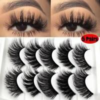 5Pair 3D Mink False Eyelashes Wispy Beauty Natural Long Thick Fake Eyelashes