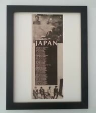JAPAN*David Sylvian*UK Tour*1982*ORIGINAL*POSTER*AD*FRAMED*FAST WORLD SHIP*