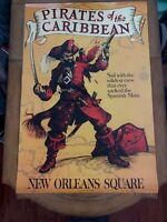 """ATTRACTION POSTER 36x54"""" Pirates of the Caribbean 1967 Rare 50th D23 Prop Disney"""