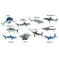 PELAGIC FISH models ocean sealife TOOB 10 small figures Sharks swordfish tuna