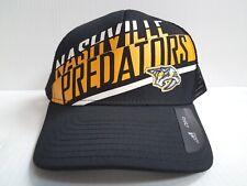 Nashville Predators Cap Adidas Mesh Adjustable Black Trucker Hat NHL
