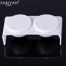 Double Bol Coupe Plat Plastique Acrylique Liquide Poudre Ongle Manucure Outils