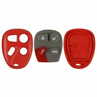 New Case Button Pad Red Fits Chevy Buick GM Keyless Remote FCC ID KOBLEAR1XT