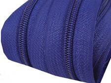 5m Endlos-Reißverschluss 5mm mit 10 Zipper dunkelblau Versandkostenfrei